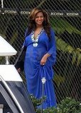 Pregnant Beyoncé Wears a Bright Blue Bikini Yachting With Jay, Mom, and Julez