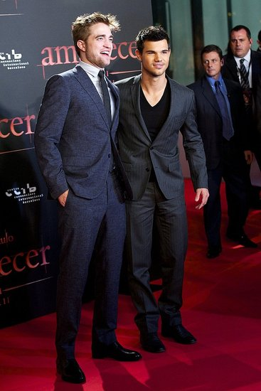 Robert Pattinson and Taylor Lautner Bring Their Breaking Dawn Hotness to Spain