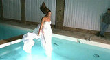 Beyoncé Knowles jumped into a pool fully clothed!