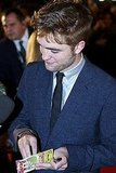 Robert Pattinson at the Breaking Dawn Part 1 premiere in Barcelona.