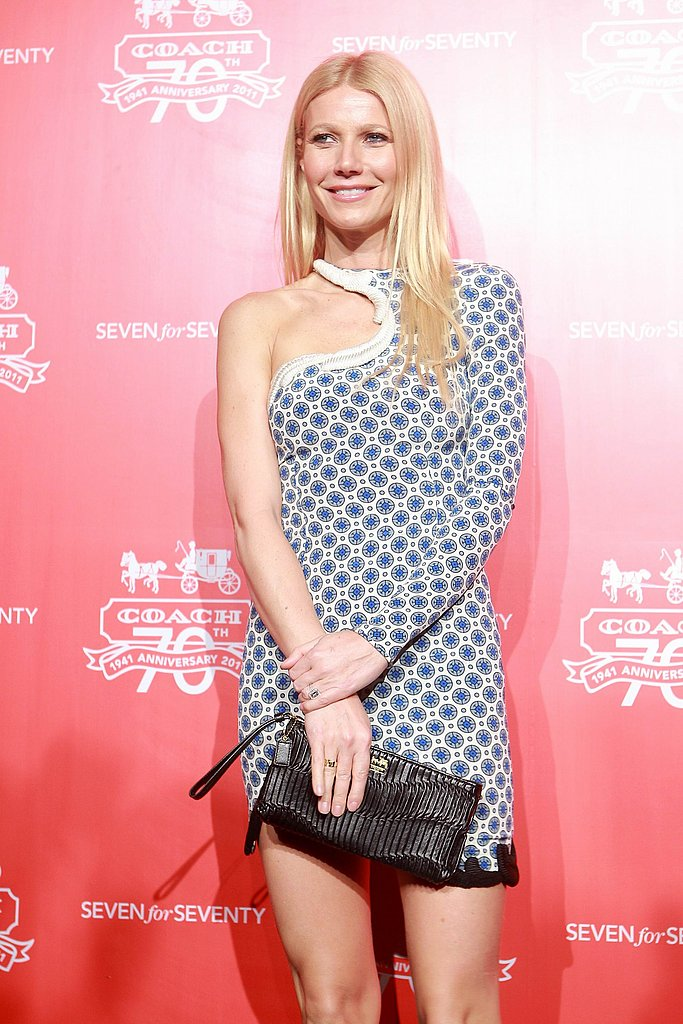 Gwyneth Paltrow in a one-shouldered dress.