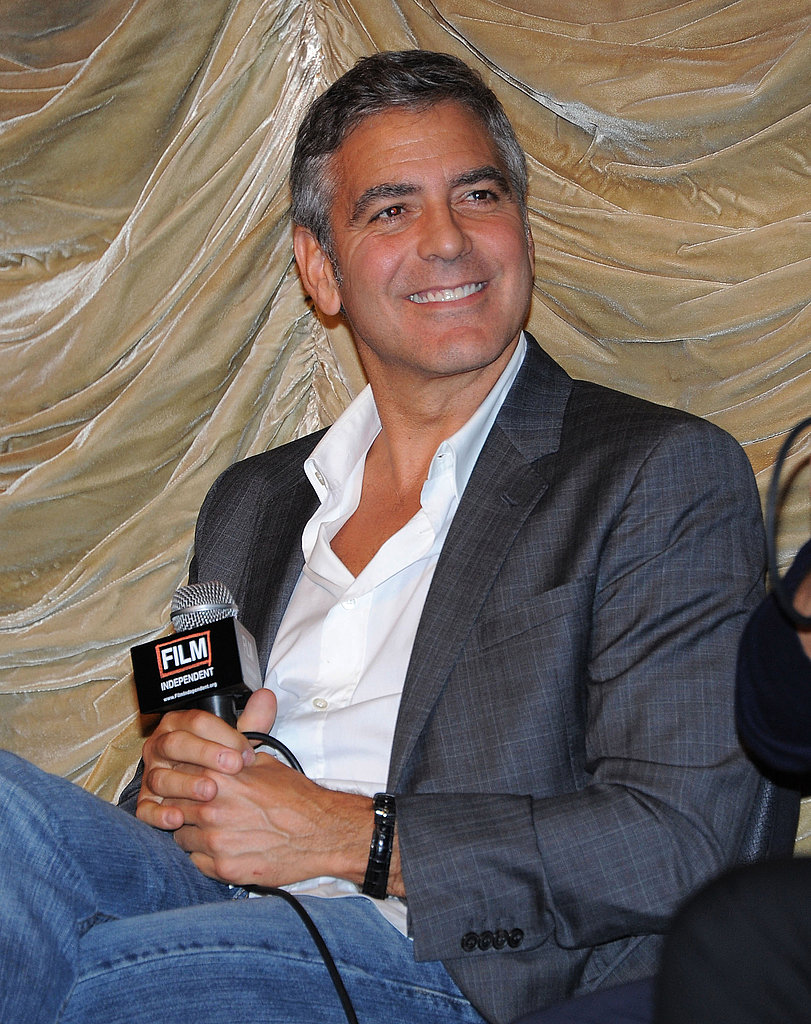 George Clooney was all smiles in LA.