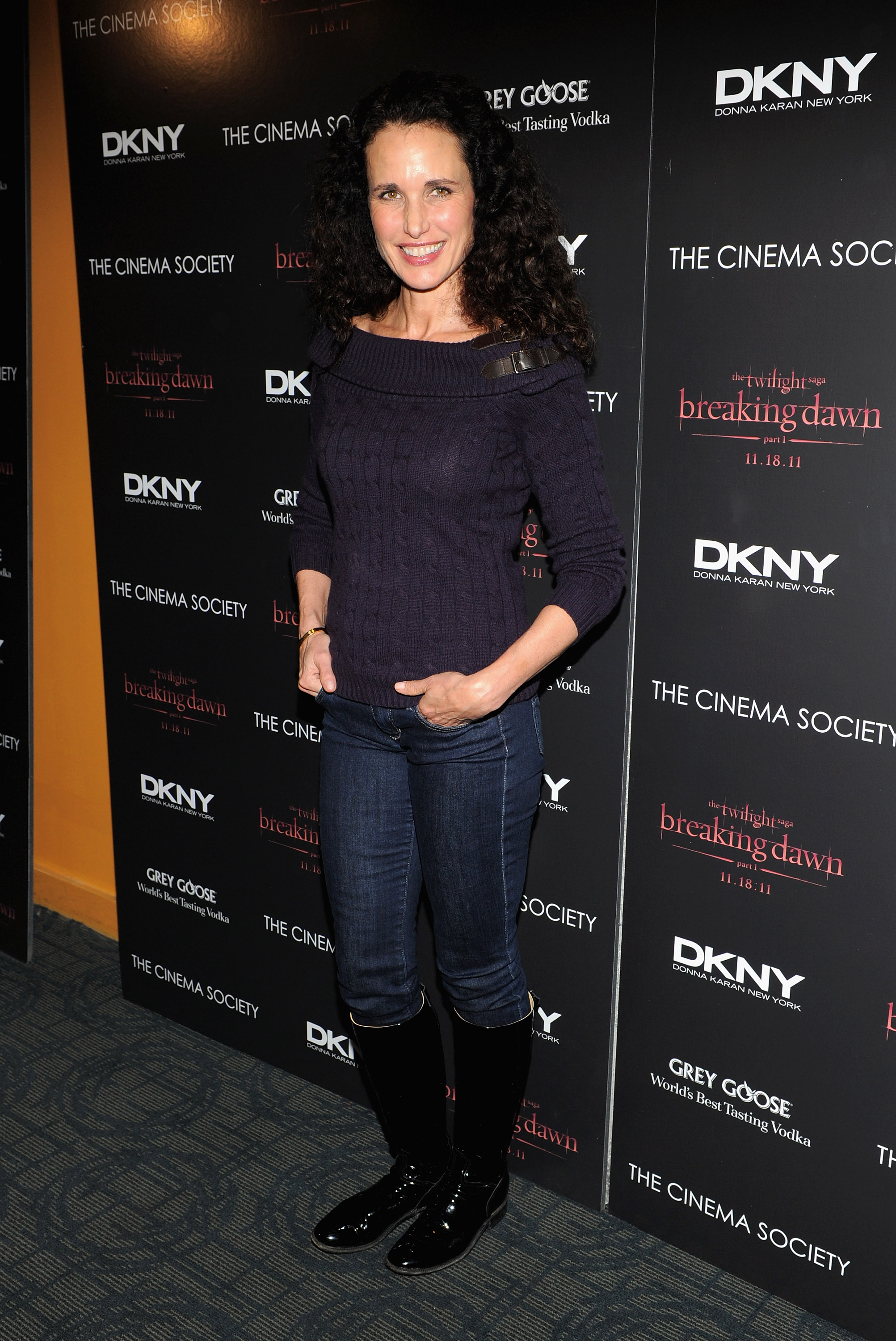 Andie MacDowell attended a screening of Breaking Dawn in NYC.