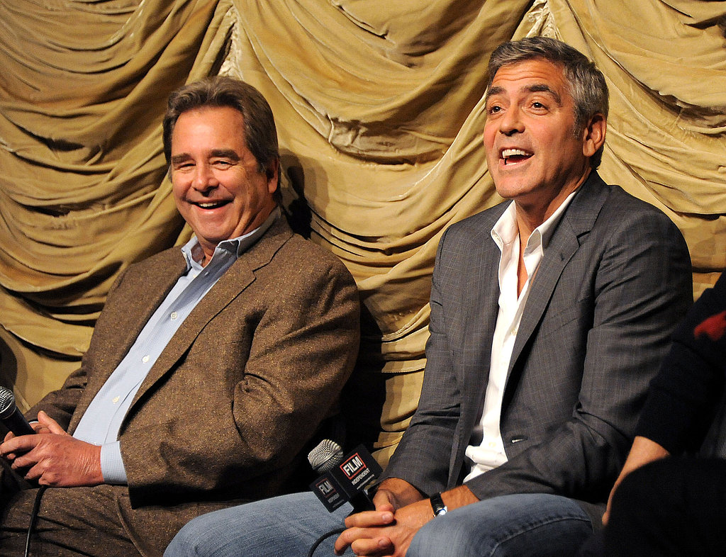 George Clooney was animated at a talk about The Descendants at LACMA.