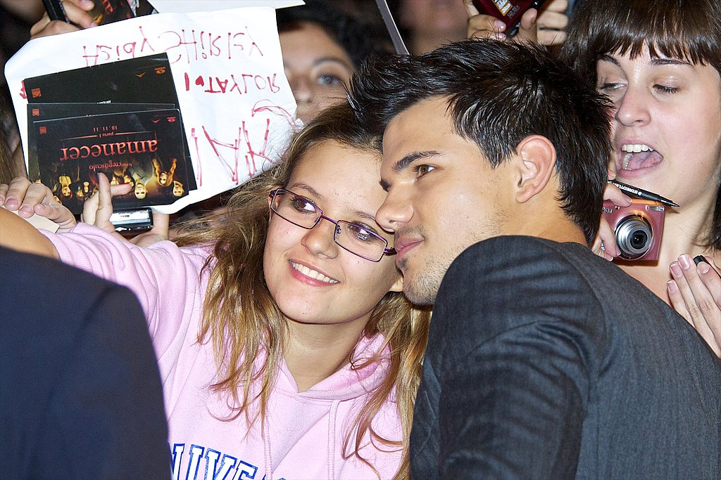 Taylor Lautner at Breaking Dawn Part 1 premiere in Spain.