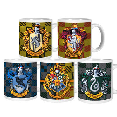 Harry Potter Crest and House Colors Mug Set, approx $52