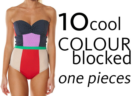 Ten of the Best: Colour Blocked One Piece Cossies