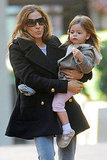 Sarah Jessica Parker carried her daughter Tabitha Broderick in NYC.
