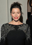 Jessica Biel swept her hair up at a GQ party.