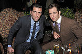 Zachary Quinto and Chris Pine took a seat at the Chateau Marmont.