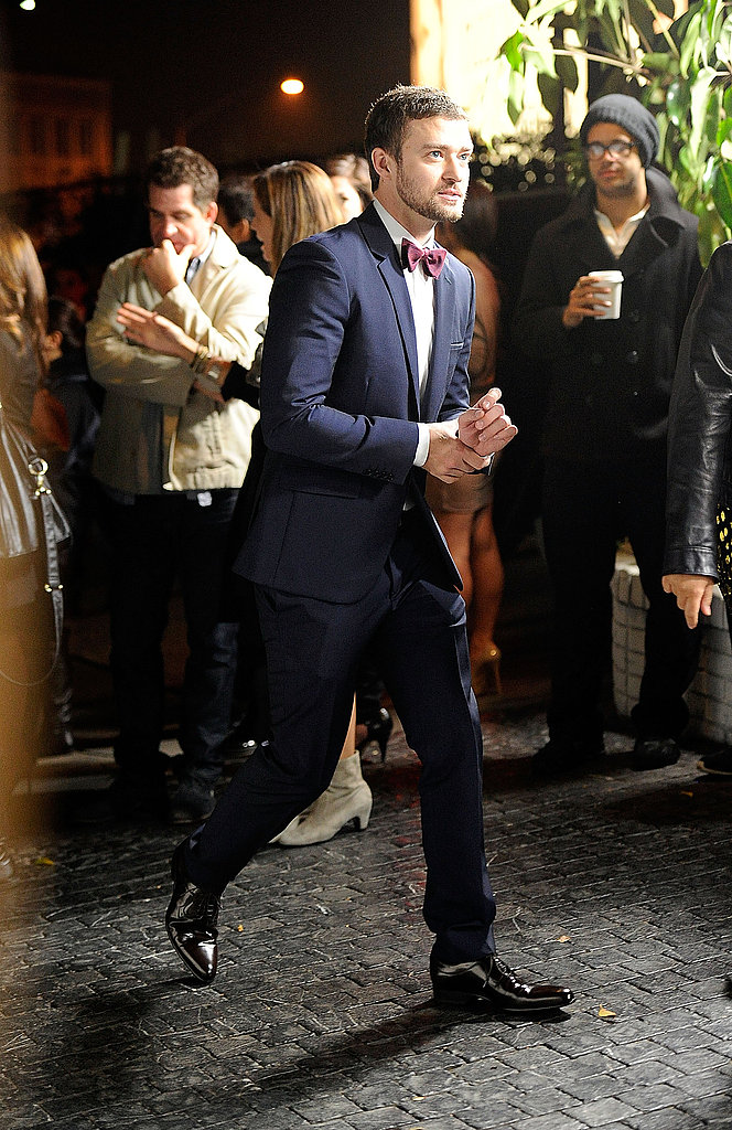 Justin Timberlake made his way into the GQ Men of the Year party.