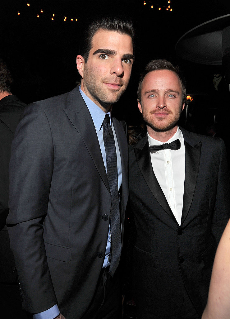 Zachary Quinto and Aaron Paul were among the famous attendees at the 2011 GQ Men of the Year party.