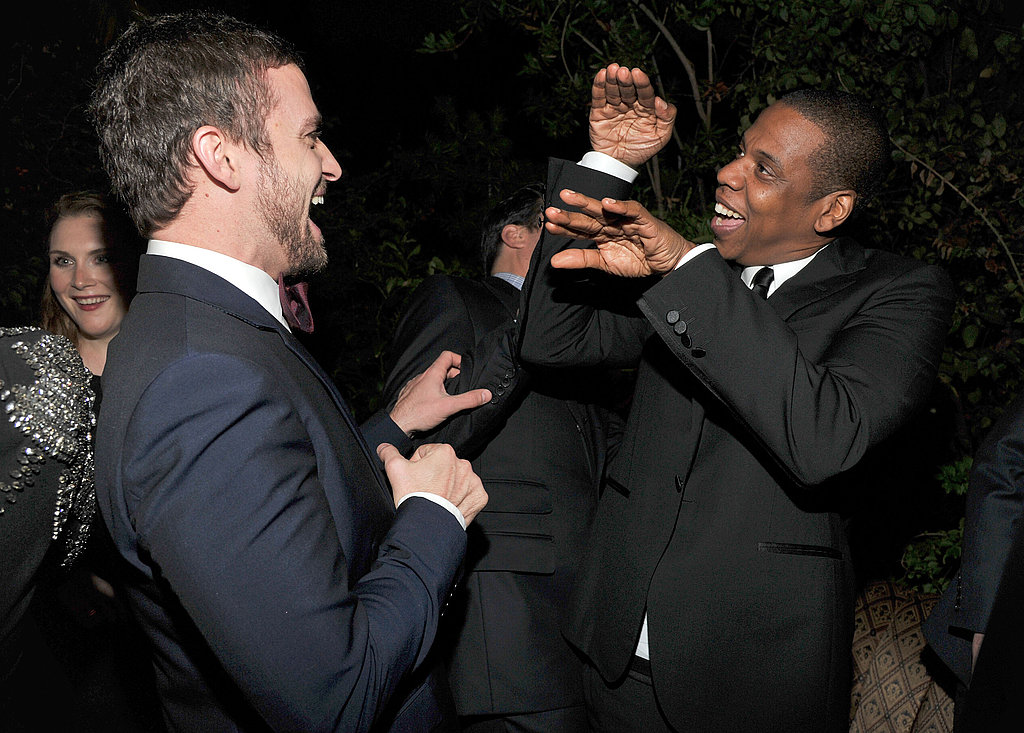Justin Timberlake and Jay-Z gave each other some skin for their Men of the Year awards.