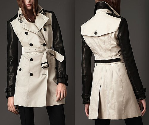 Burberry's Leather-Sleeved Trench