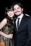 Zooey Deschanel had a drink with Jason Ritter at a GQ party.