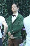 Tobey Maguire was in costume for The Great Gatsby.