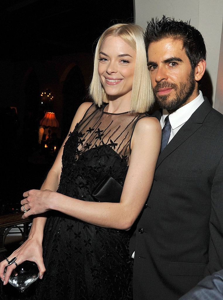 Jaime King and Eli Roth partied at LA's Chateau Marmont.