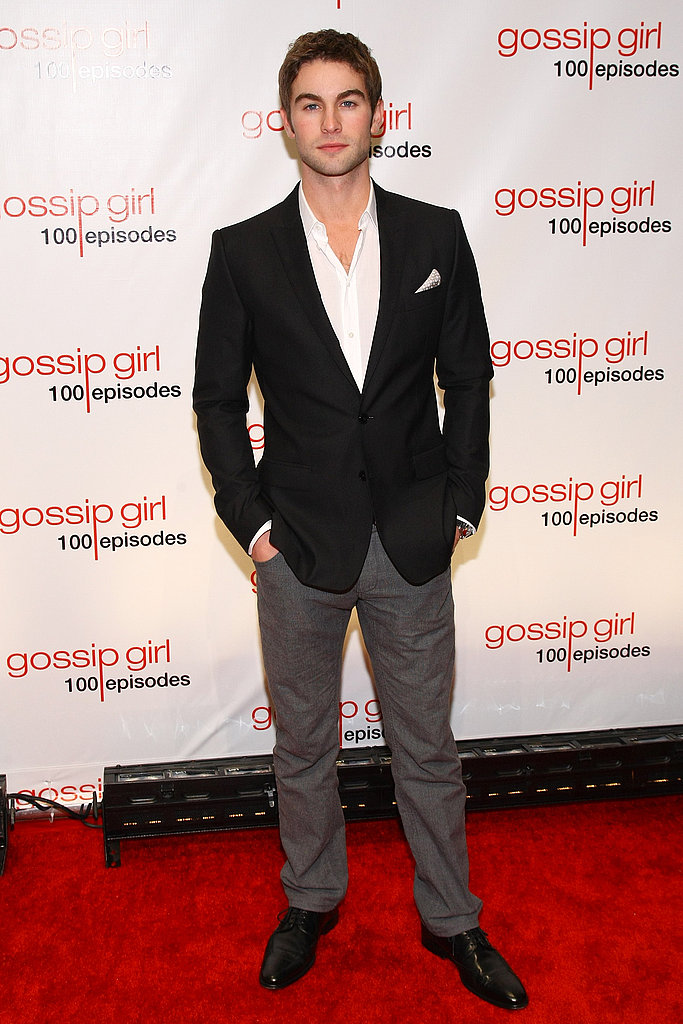 Chace Crawford at a Gossip Girl party.