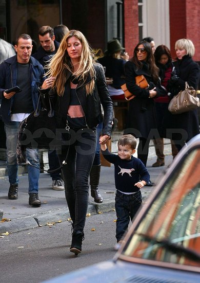 Gisele Does Dinner With Her Little Man Ben