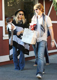 Rachel Zoe and her family shopping.