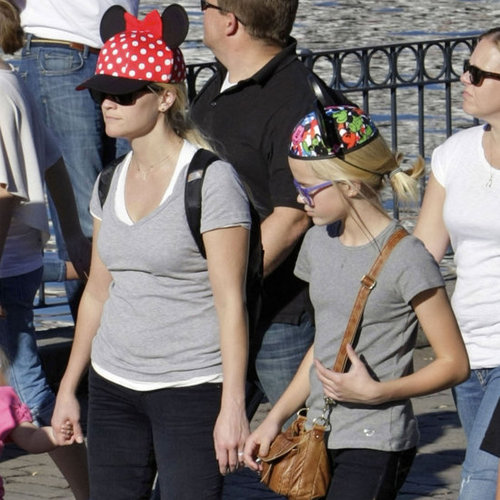 Reese Witherspoon and Family at Disneyland Pictures