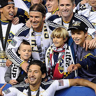David and Harper Beckham Galaxy MLS Championship Pictures