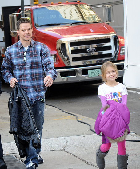 Mark Wahlberg Brings His Cute Kids to Work in NYC