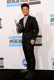 Bruno Mars was all buttoned up for the American Music Awards.