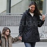 Katie Holmes and Suri Cruise out in Pittsburgh.