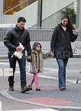 Tom Cruise and Katie Holmes in Pittsburgh with Suri.