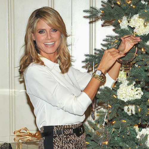 Heidi Klum Christmas Tree Decorating QVC Party Pictures