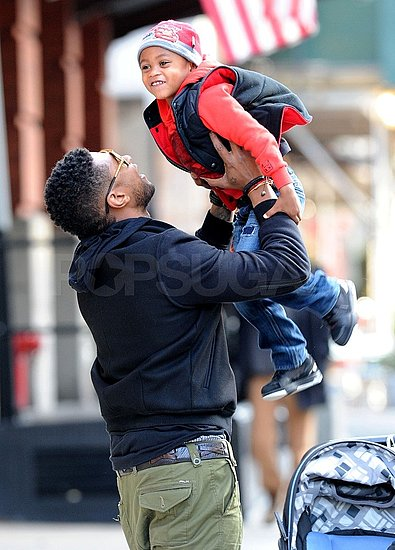 Usher Skips the AMAs and Spends the Weekend With His Boys