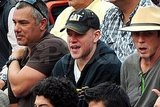 Matt Damon attended a bullfight in Mexico.