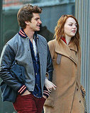 Emma Stone and Andrew Garfield had a lot to talk about.