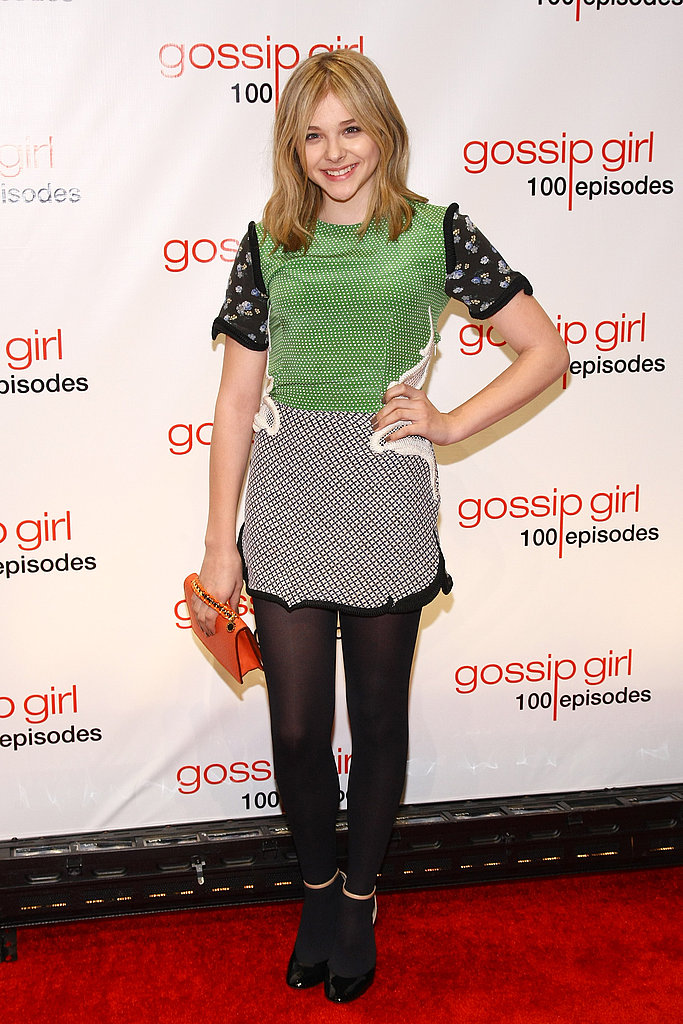 Chloë Moretz opted for a colorful, printed look from Stella McCartney's Spring 2012 for the Gossip Girl festivities.