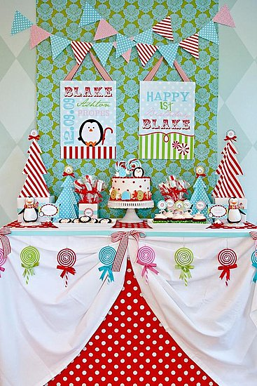Winter Candyland Dessert Table
