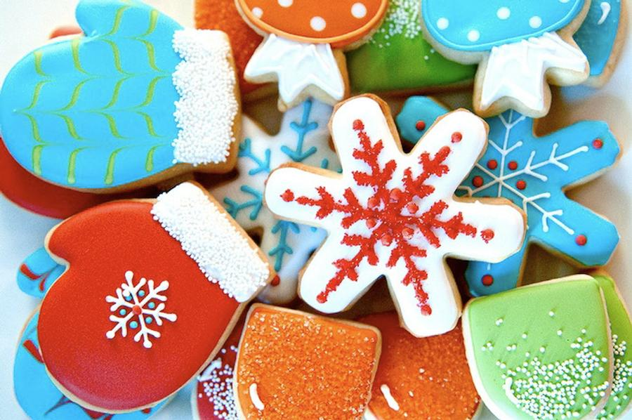 Winter-Themed Sugar Cookies
