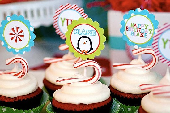 Winter Candyland Birthday Cupcakes