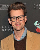 Brad Goreski wore his signature glasses to the Barneys event.