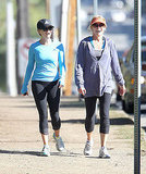 Reese Witherspoon went for one of her outdoor workouts with a walking partner.