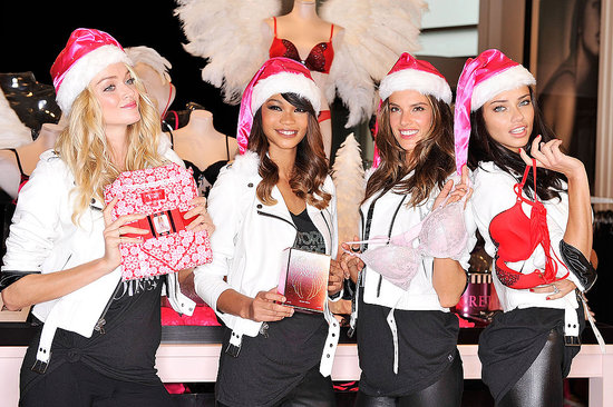 Victoria's Secret Angels posing in NYC.