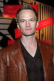 Neil Patrick Harris in a leather blazer.