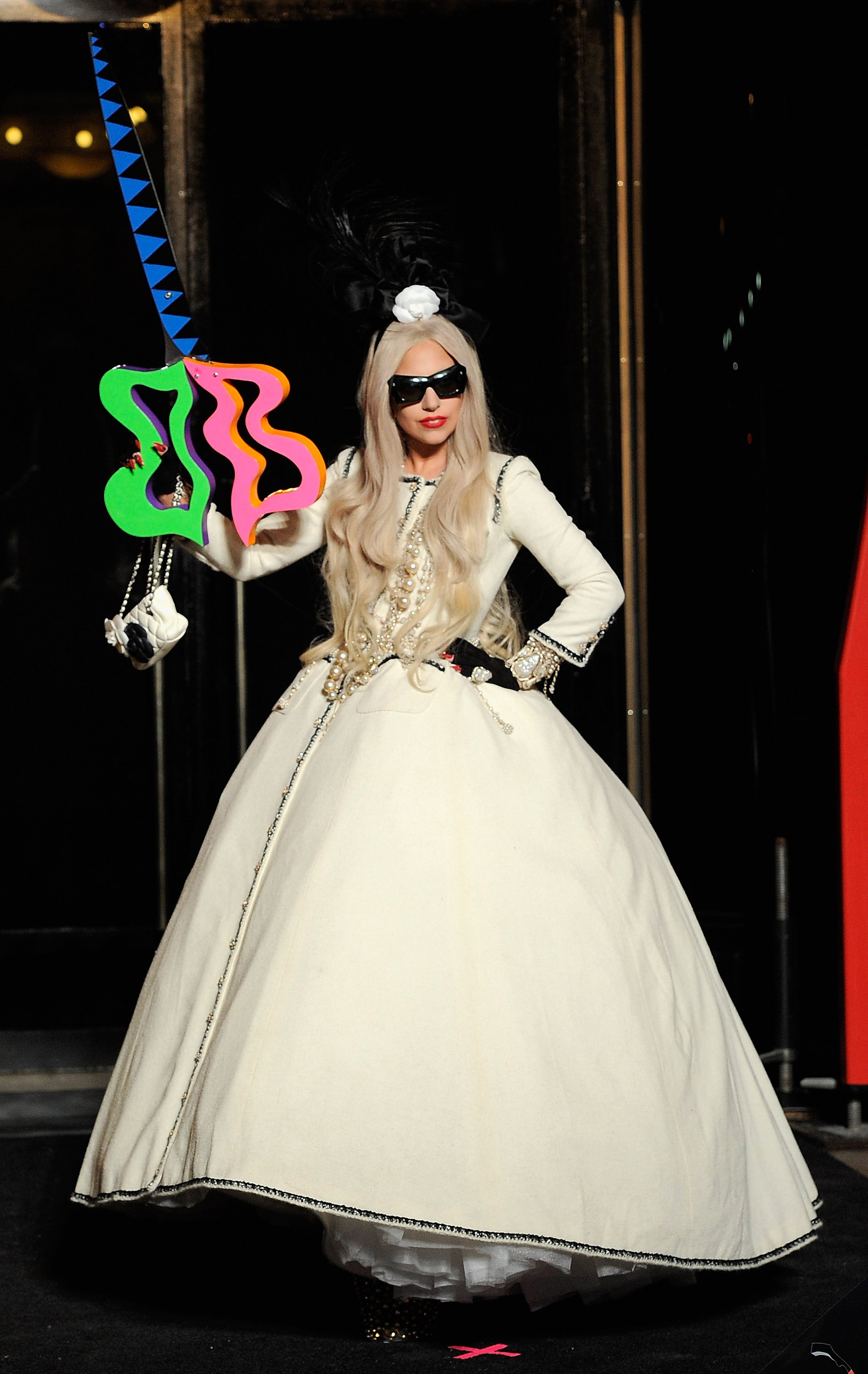Lady Gaga had a wild pair of scissors at her ribbon-cutting.