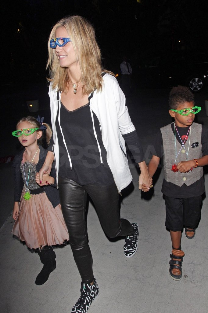 Henry and Leni accompanied Heidi to the Katy Perry concert.