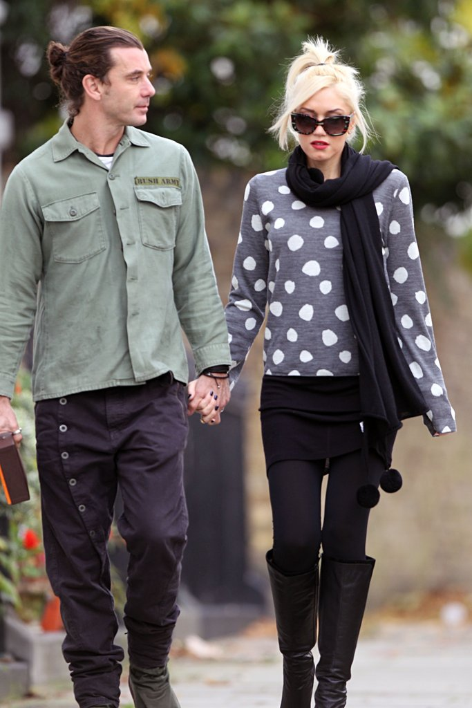 Gwen Stefani and Gavin Rossdale out in London.