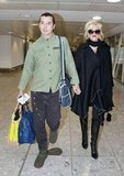 Gavin Rossdale with Gwen Stefani at the airport.