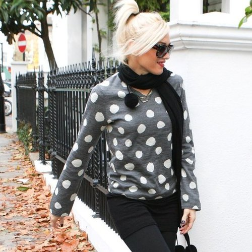Gwen Stefani Wears Polka Dots in London