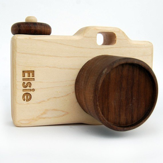 Personalized Wooden Toy Camera ($34)