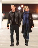 Jennifer Aniston and Justin Theroux spent Thanksgiving Saturday together.