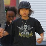 Zahara Jolie-Pitt and Pax Jolie-Pitt saw Hugo in LA.